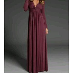 Rachel Pally Burgundy Long Sleeve Maxi Dress 6